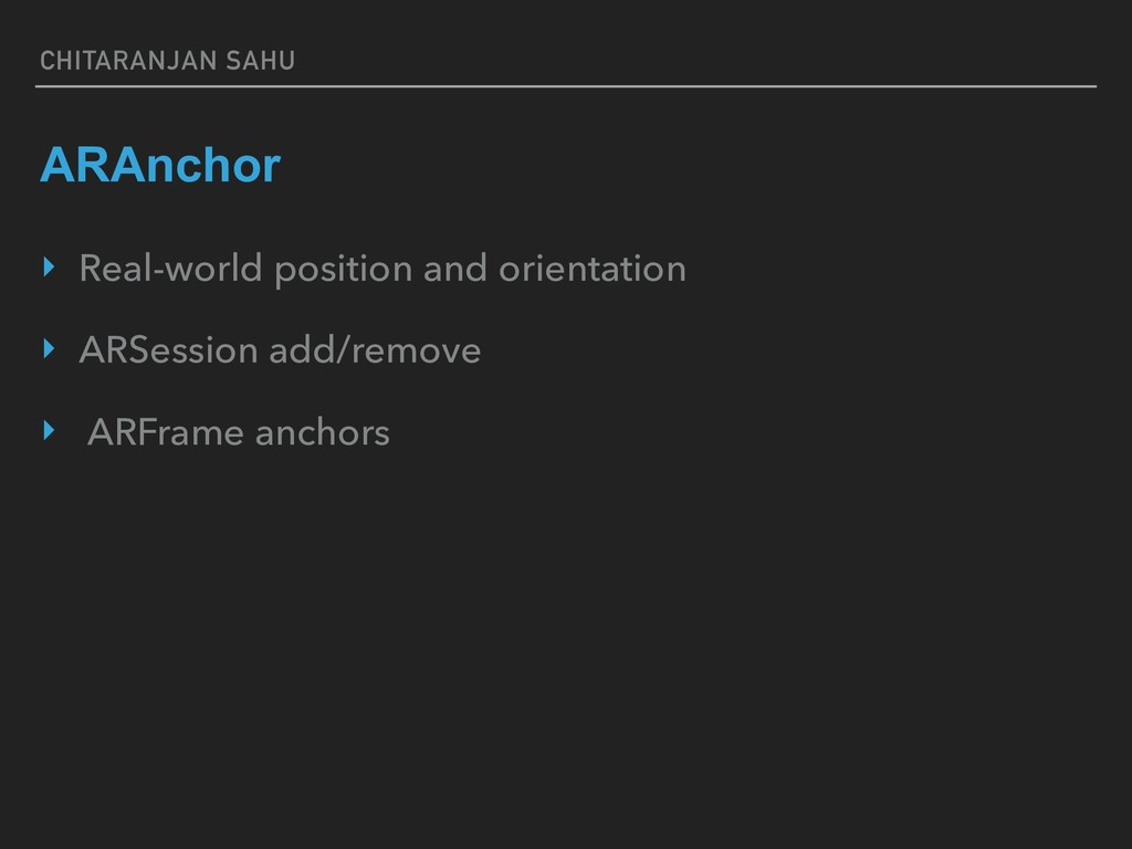 CHITARANJAN SAHU ARAnchor ‣ Real-world position...