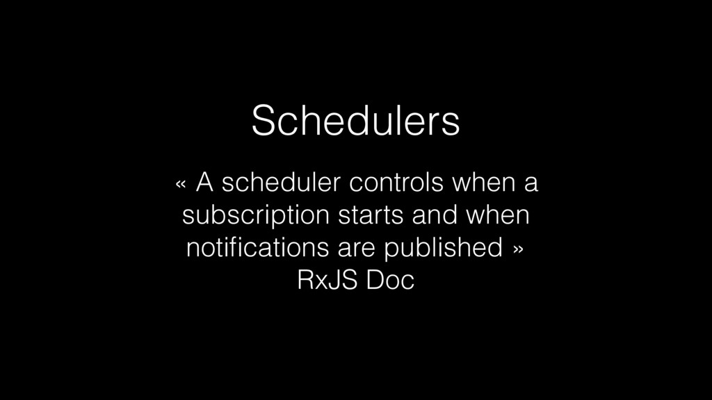 « A scheduler controls when a subscription star...