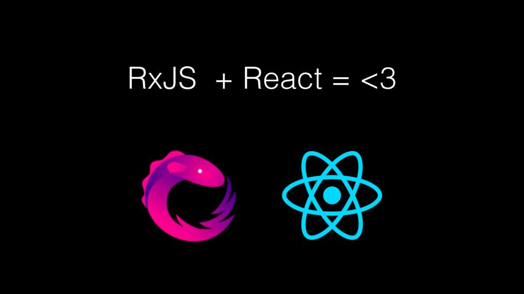 RxJS + React = <3
