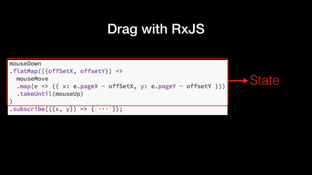 Drag with RxJS State