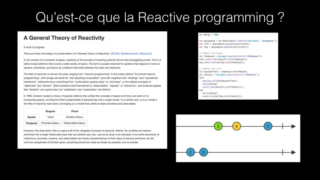 Qu'est-ce que la Reactive programming ?