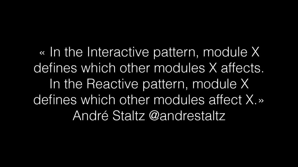 « In the Interactive pattern, module X defines w...