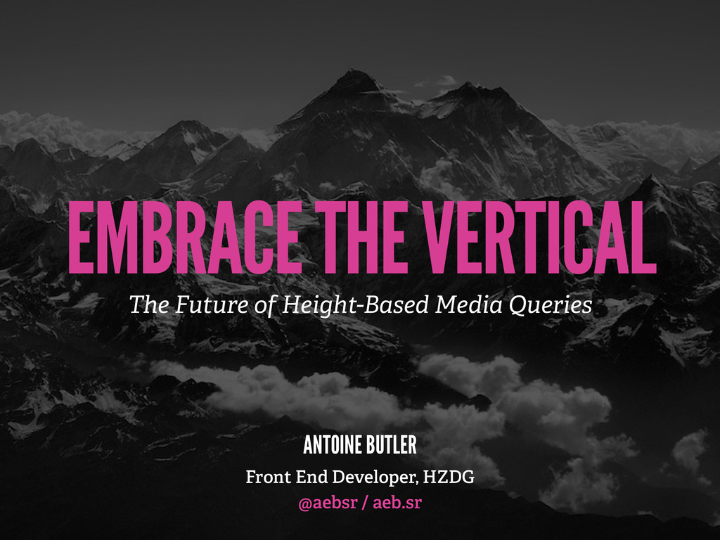 EMBRACE THE VERTICAL The Future of Height-Based...