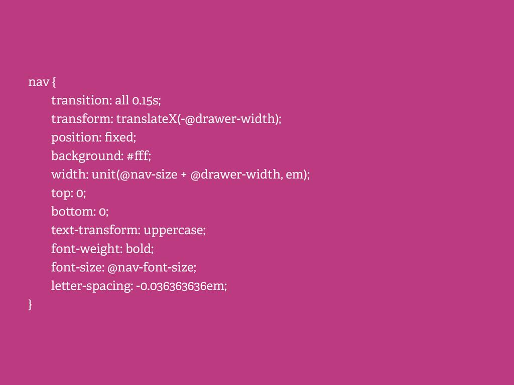 nav { transition: all 0.15s; transform: transla...