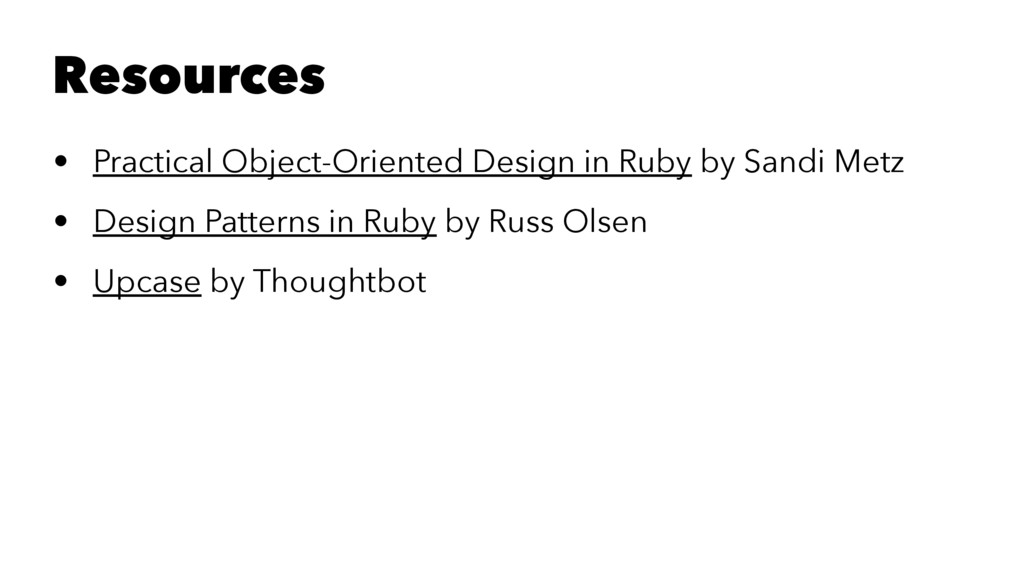 Resources • Practical Object-Oriented Design in...