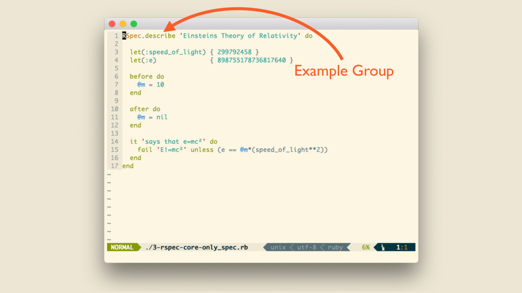 <core only> Example Group