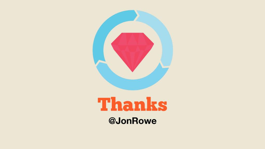 Thanks @JonRowe