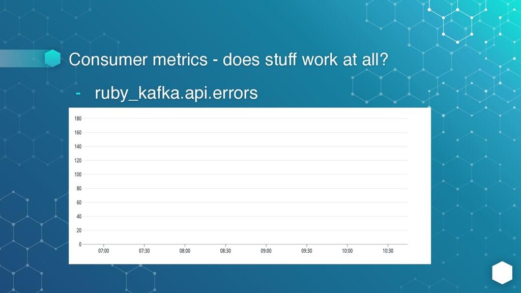 Consumer metrics - does stuff work at all? - ru...