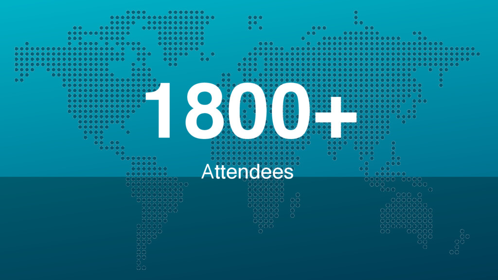 Attendees 1800+