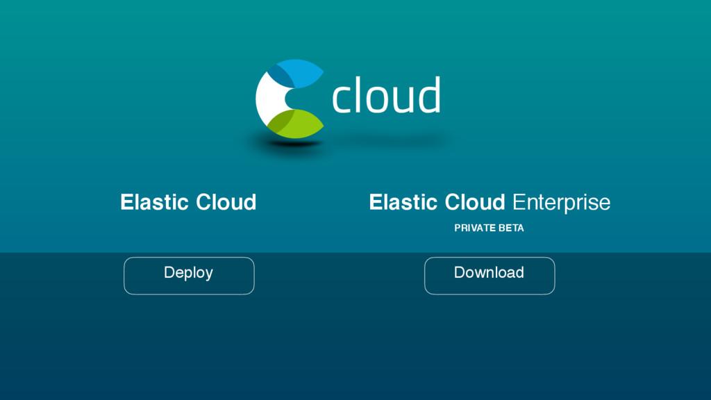 PRIVATE BETA cloud Elastic Cloud Deploy Elastic...