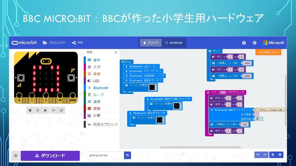 BBC MICRO:BIT : BBCが作った小学生用ハードウェア