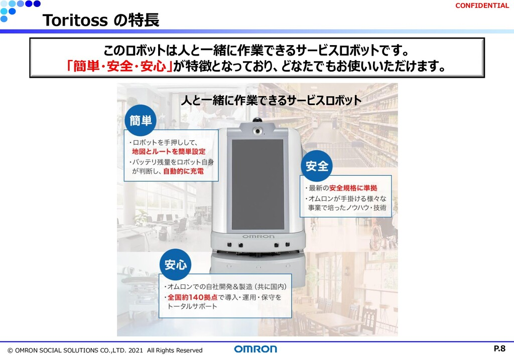 P.8 © OMRON SOCIAL SOLUTIONS CO.,LTD. 2021 All ...