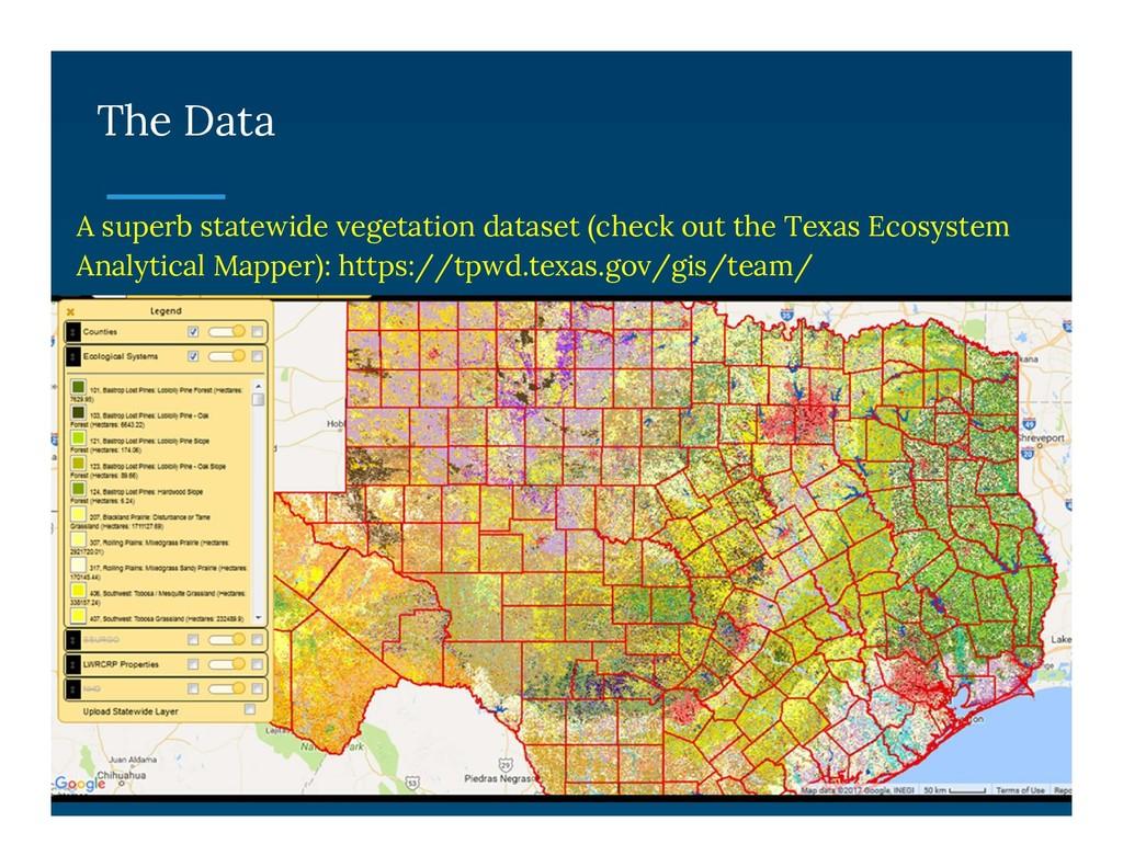 The Data A superb statewide vegetation dataset ...