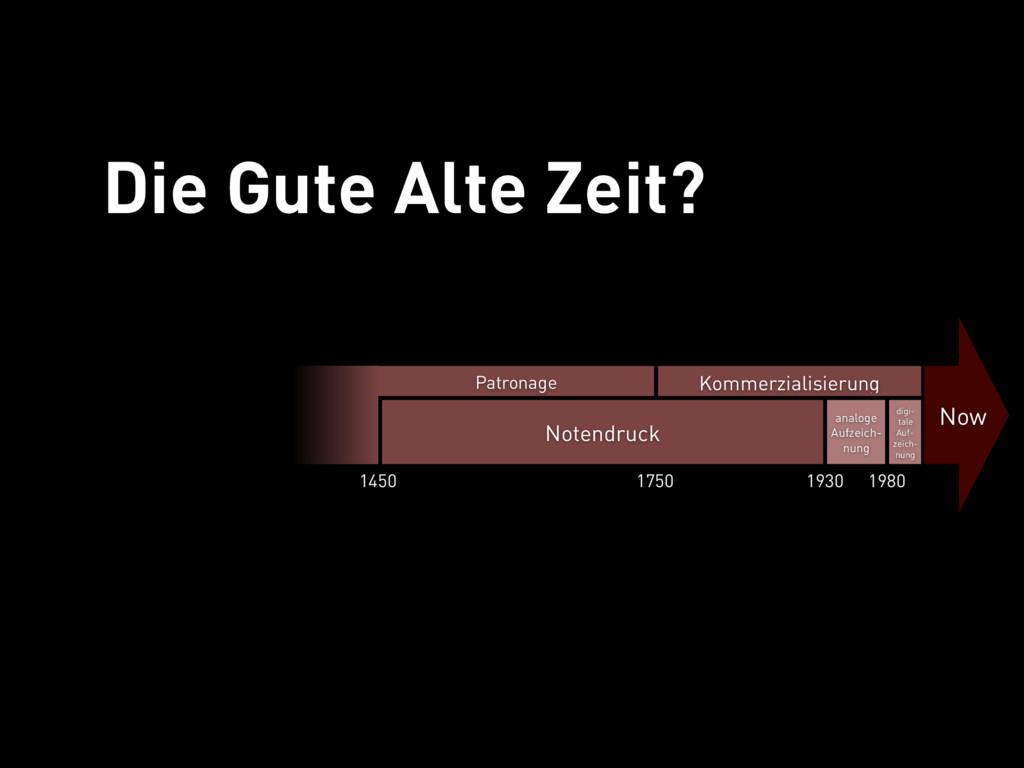 Die Gute Alte Zeit analoge Aufzeich- nung Now N...