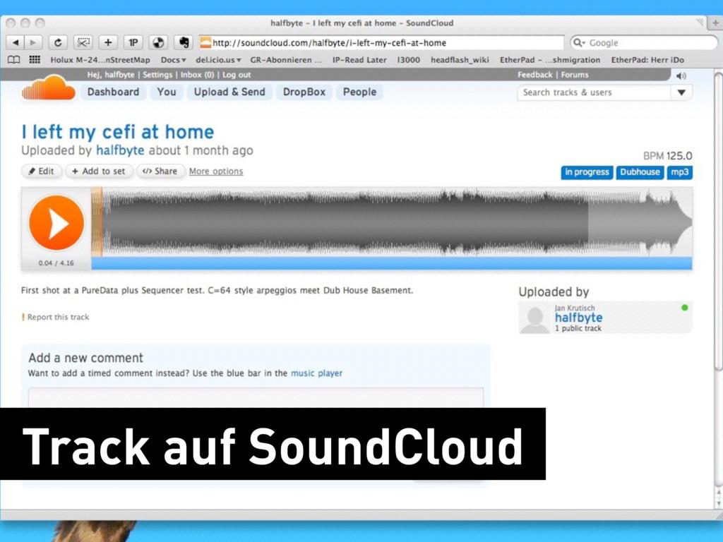Track auf SoundCloud