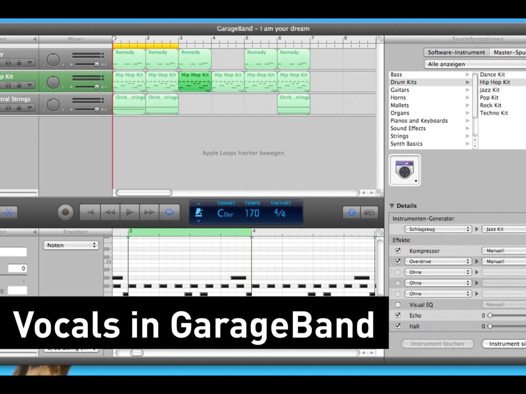 Vocals in GarageBand