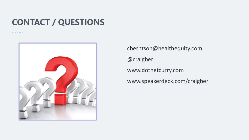 CONTACT / QUESTIONS cberntson@healthequity.com ...