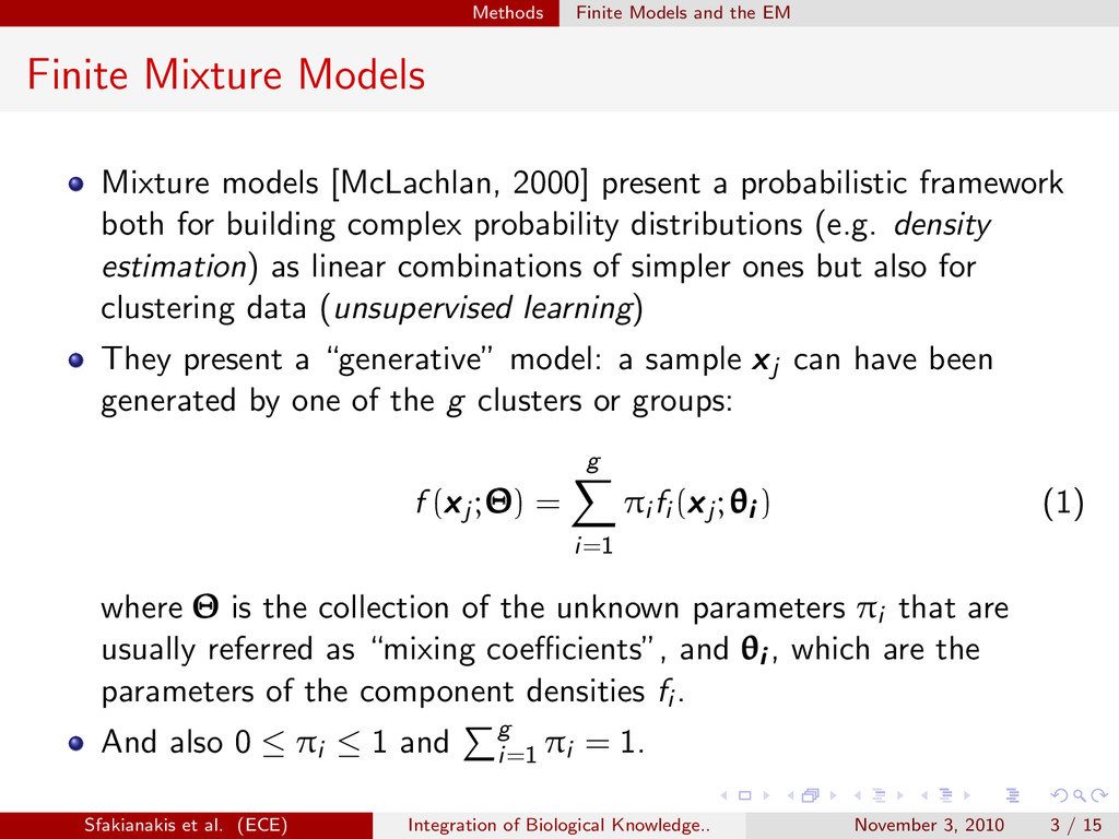 . . . . . . Methods Finite Models and the EM Fi...