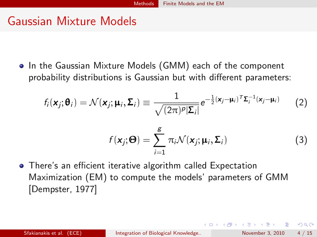 . . . . . . Methods Finite Models and the EM Ga...