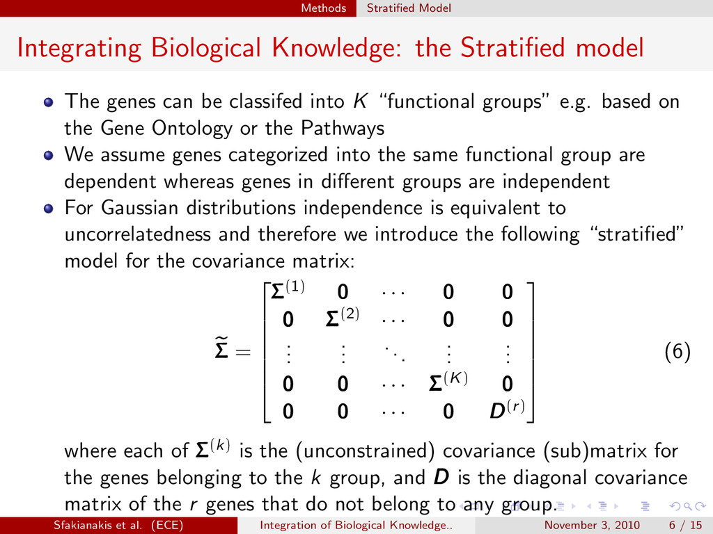 . . . . . . Methods Stratified Model Integrating...