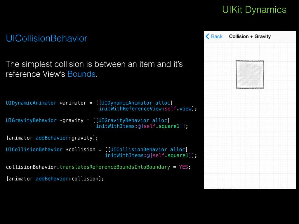 UIKit Dynamics UICollisionBehavior The simplest...