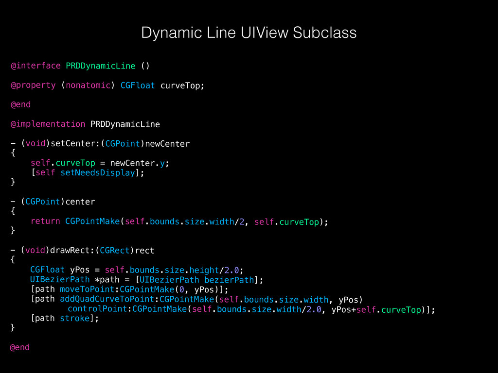 Dynamic Line UIView Subclass @interface PRDDyna...