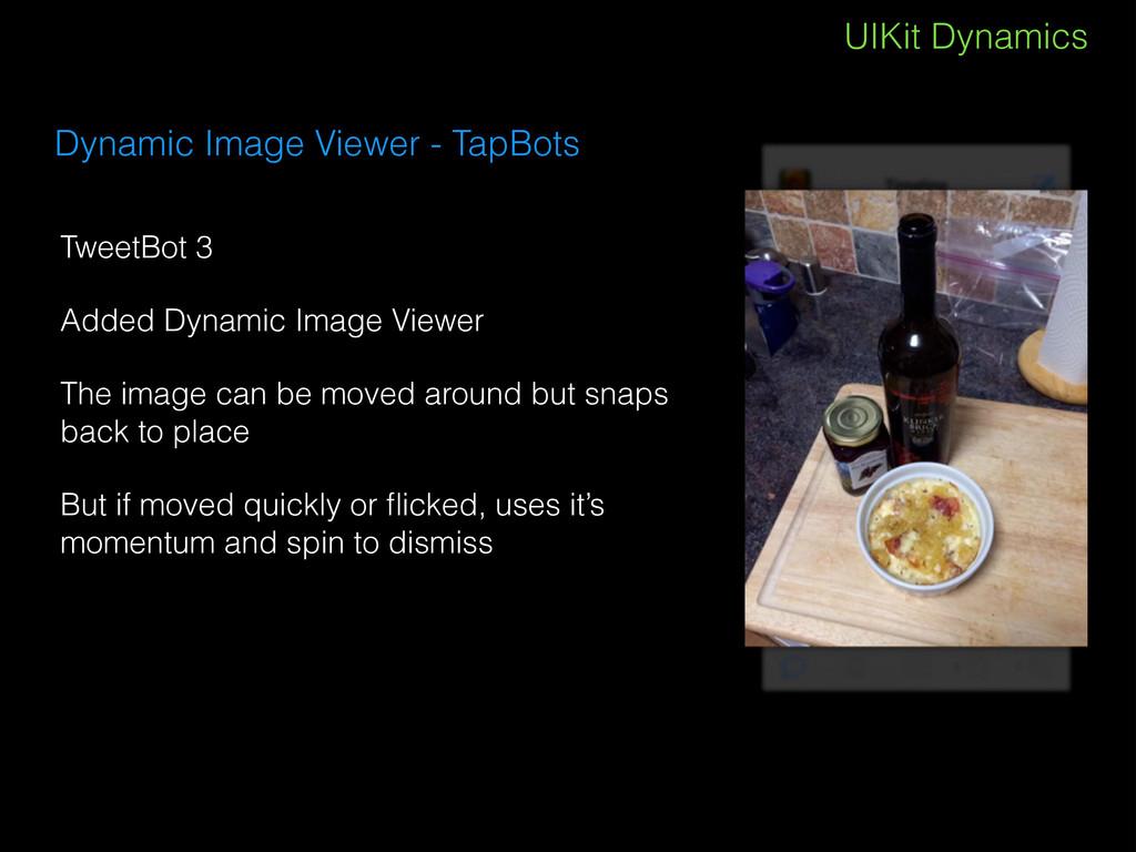 UIKit Dynamics Dynamic Image Viewer - TapBots T...