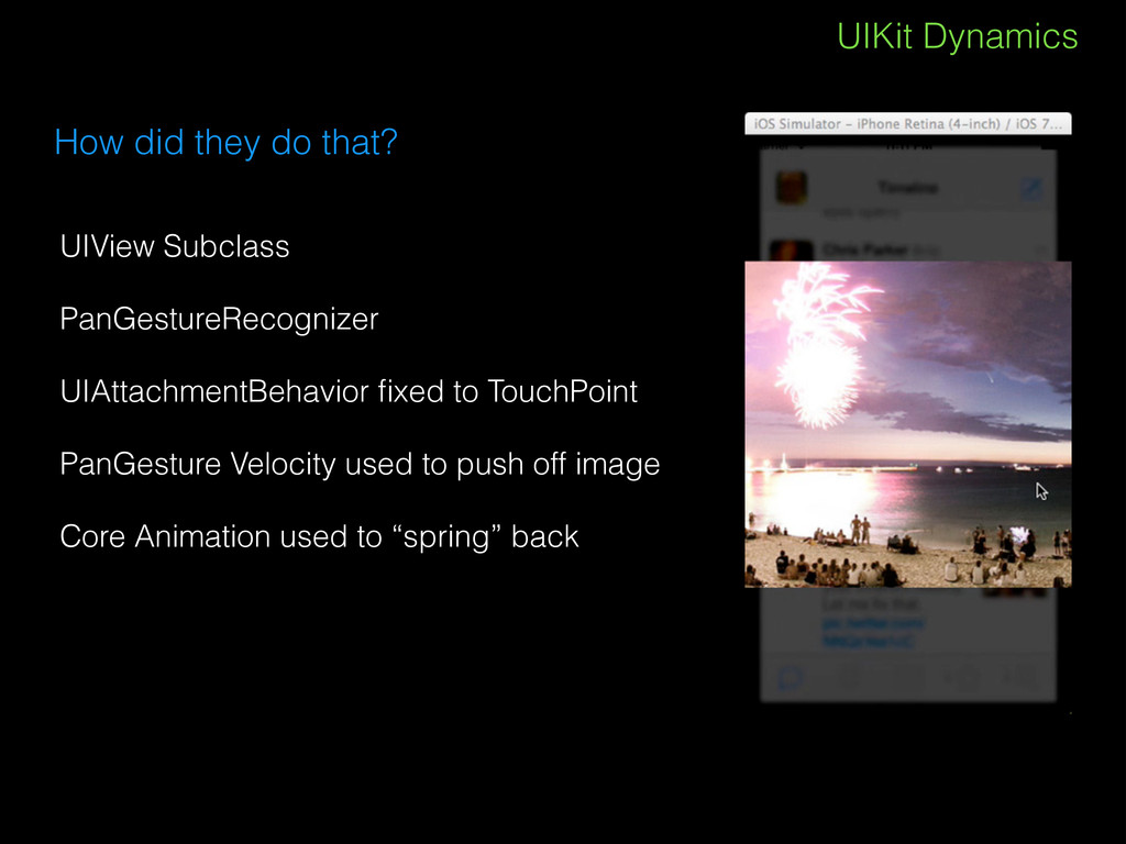 UIKit Dynamics How did they do that? UIView Sub...