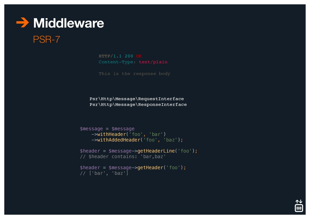Middleware PSR-7 HTTP/1.1 200 OK Content-Type: ...