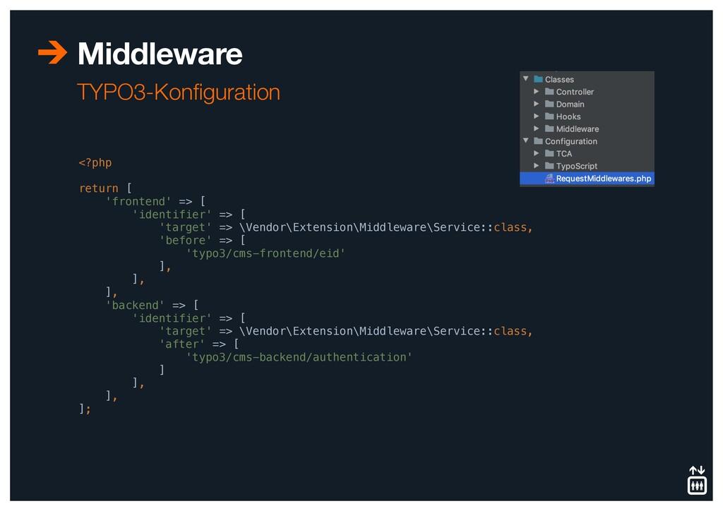 Middleware TYPO3-Konfiguration <?php return [ 'f...