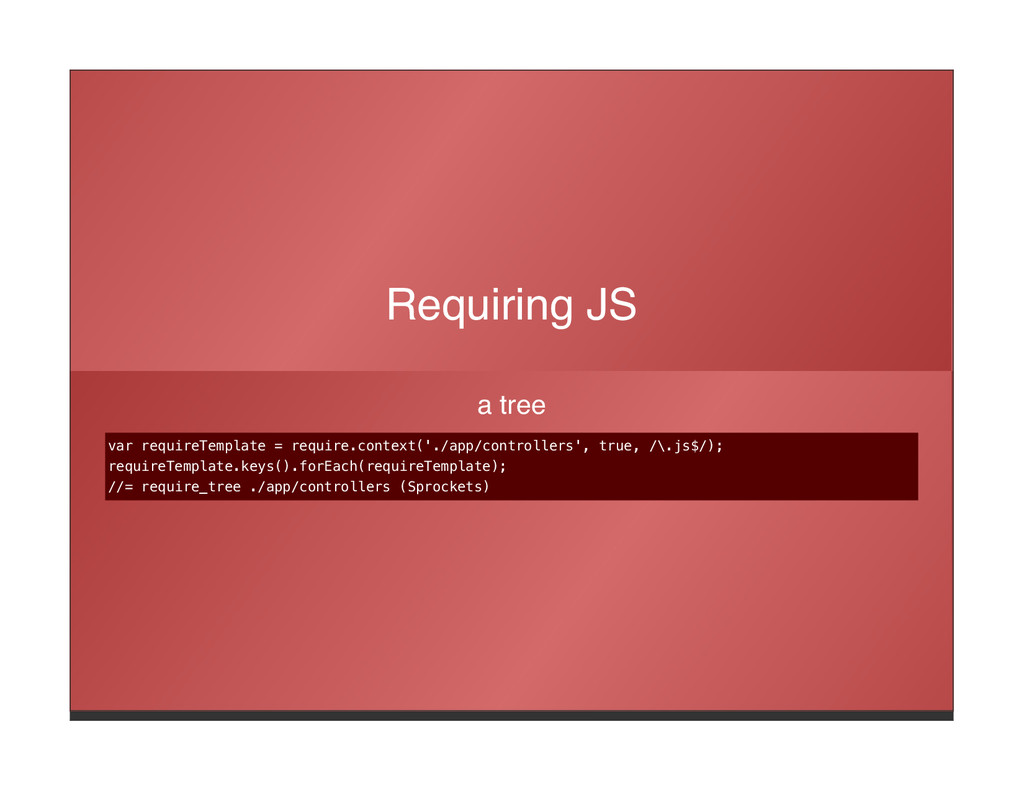 Requiring JS a tree var requireTemplate = requi...