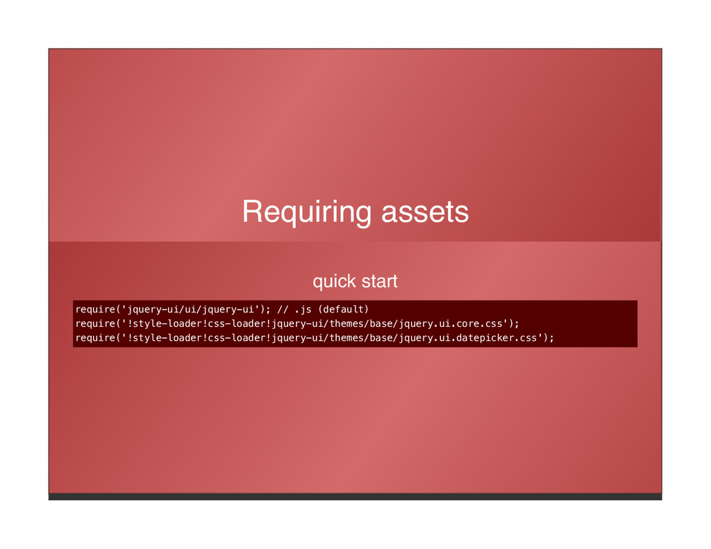 Requiring assets quick start require('jquery-ui...