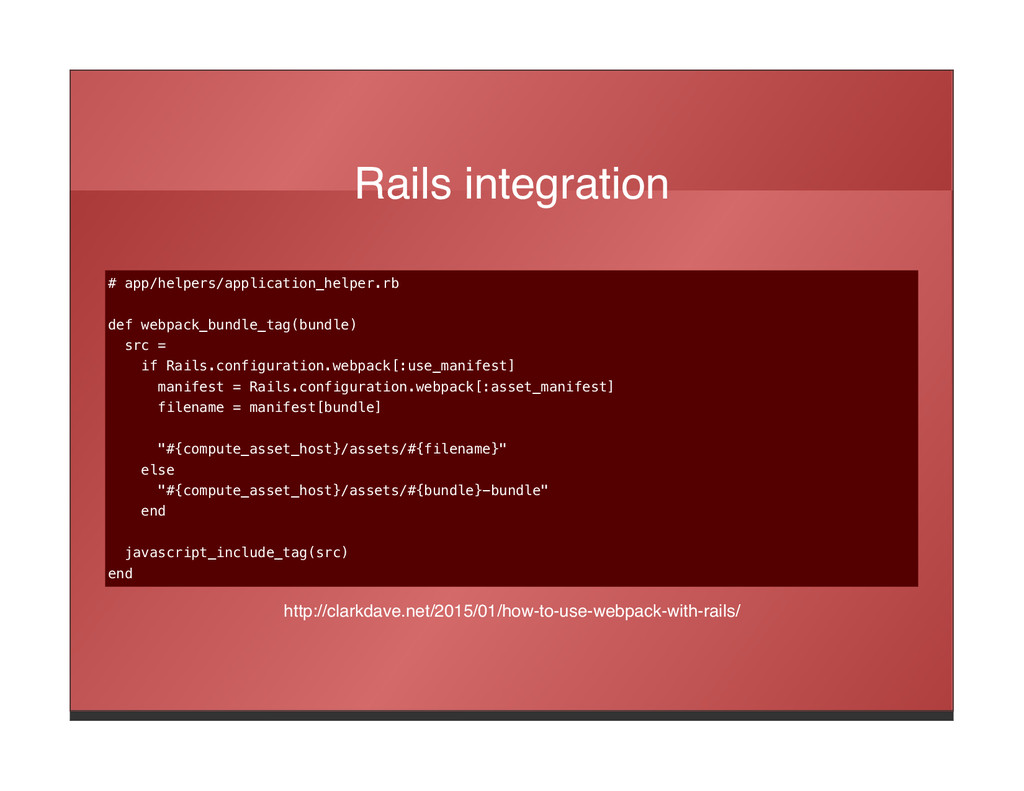 Rails integration # app/helpers/application_hel...