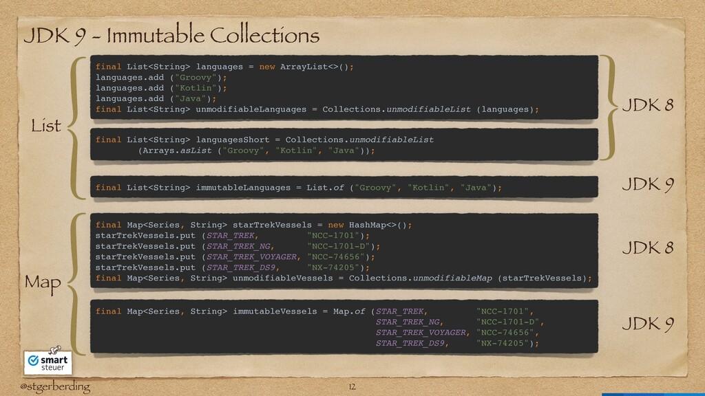 @stgerberding JDK 9 - Immutable Collections fin...