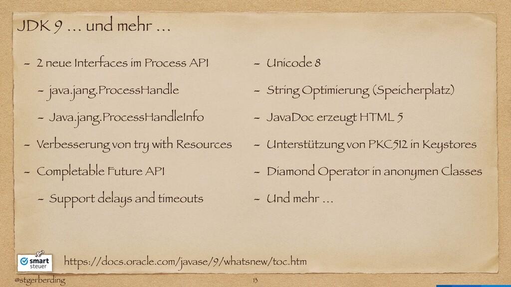 @stgerberding JDK 9 … und mehr … - 2 neue Inter...