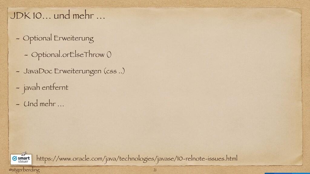 @stgerberding JDK 10… und mehr … - Optional Erw...