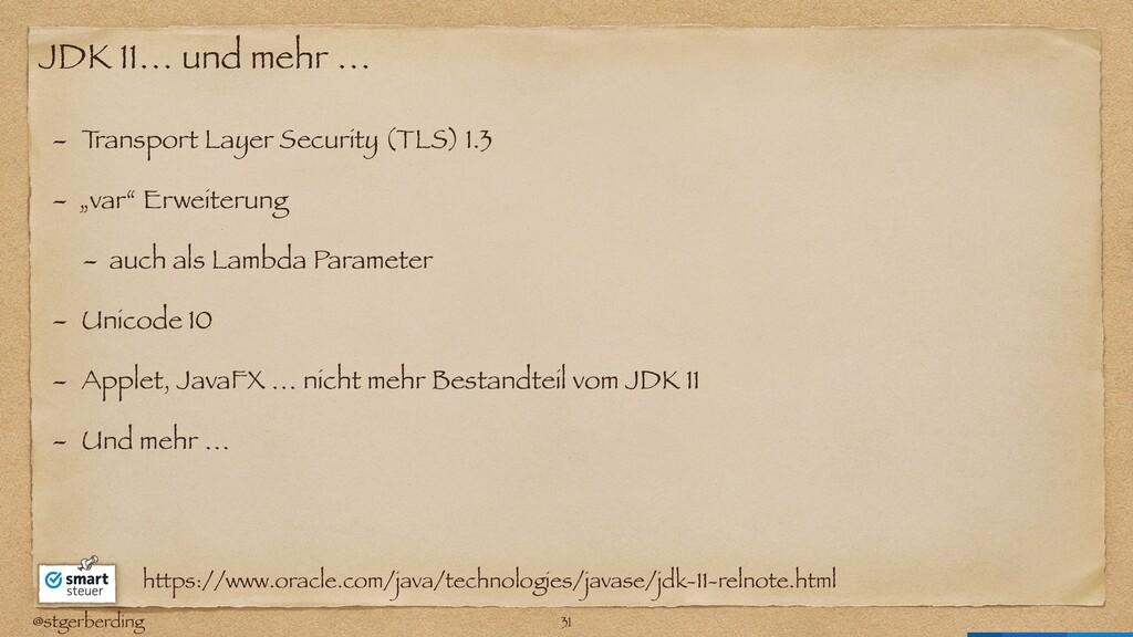 @stgerberding JDK 11… und mehr … - T ransport L...