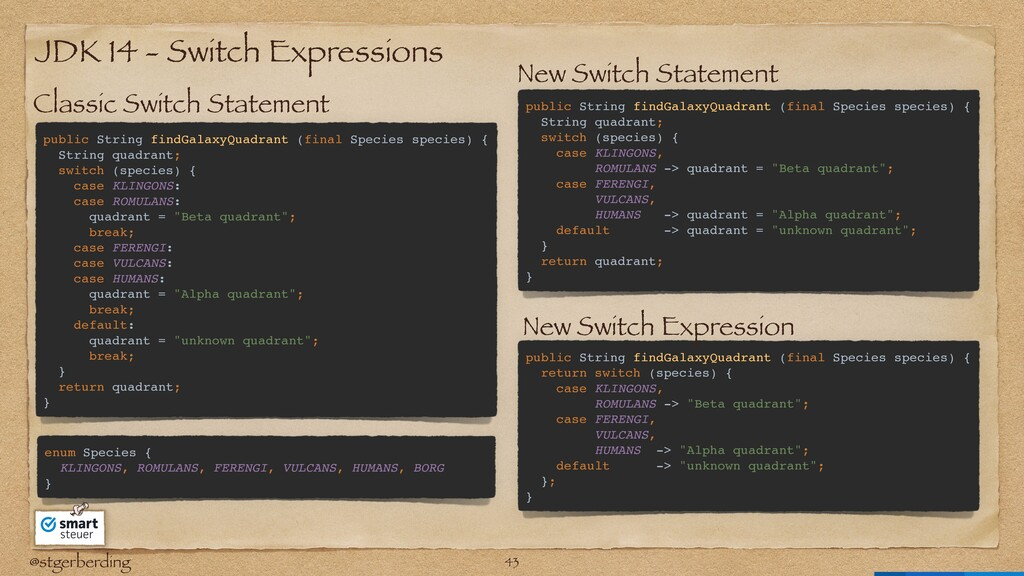 @stgerberding JDK 14 - Switch Expressions publi...