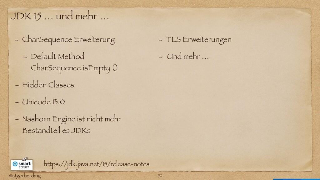 @stgerberding JDK 15 … und mehr … - CharSequenc...