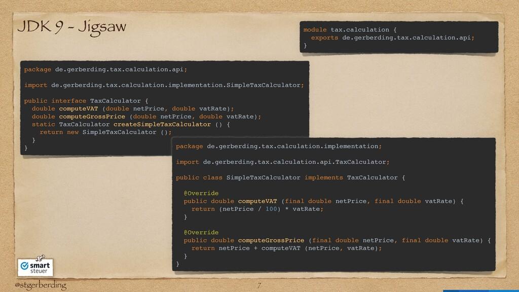 @stgerberding JDK 9 - Jigsaw package de.gerberd...