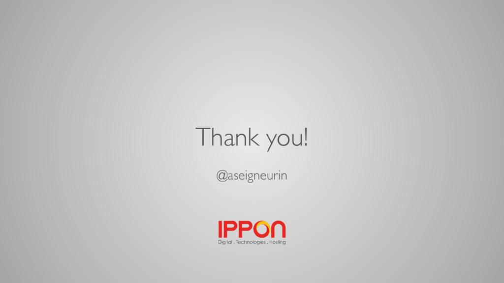 Thank you! @aseigneurin