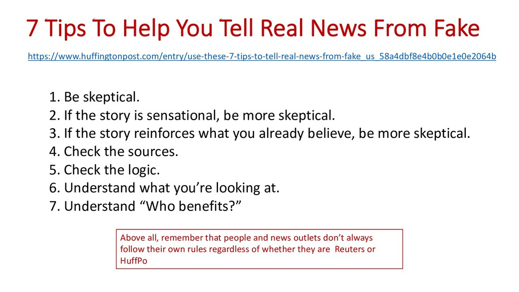 7 Tips To Help You Tell Real News From Fake htt...