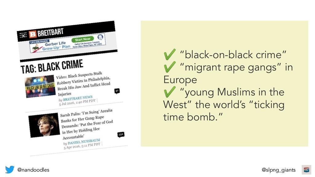 "✔ ""black-on-black crime"" ✔ ""migrant rape gangs""..."