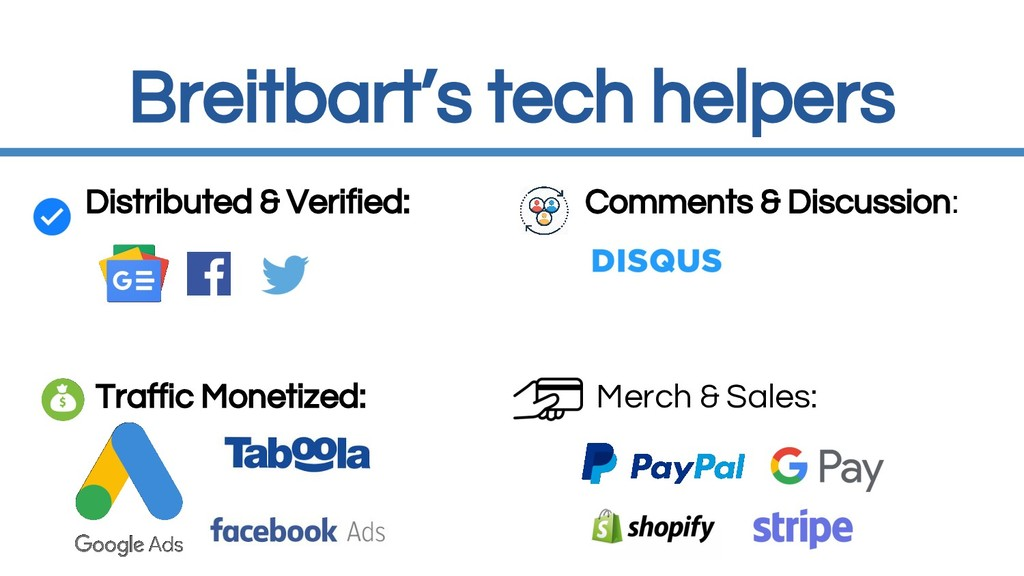 Breitbart's tech helpers Distributed & Verified...
