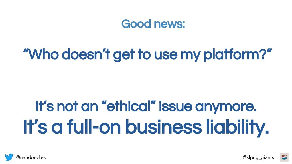 """It's not an """"ethical"""" issue anymore. It's a ful..."""