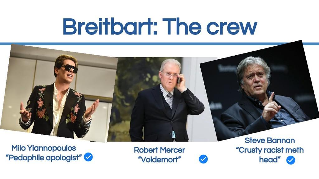 "Breitbart: The crew Milo Yiannopoulos ""Pedophil..."