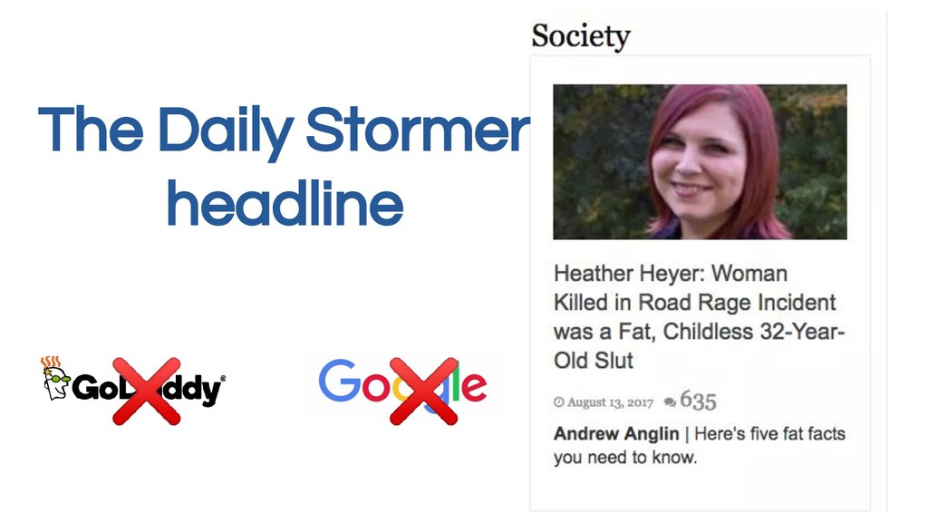 The Daily Stormer headline ❌ ❌