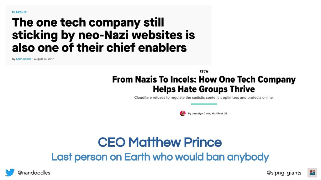 CEO Matthew Prince Last person on Earth who wou...