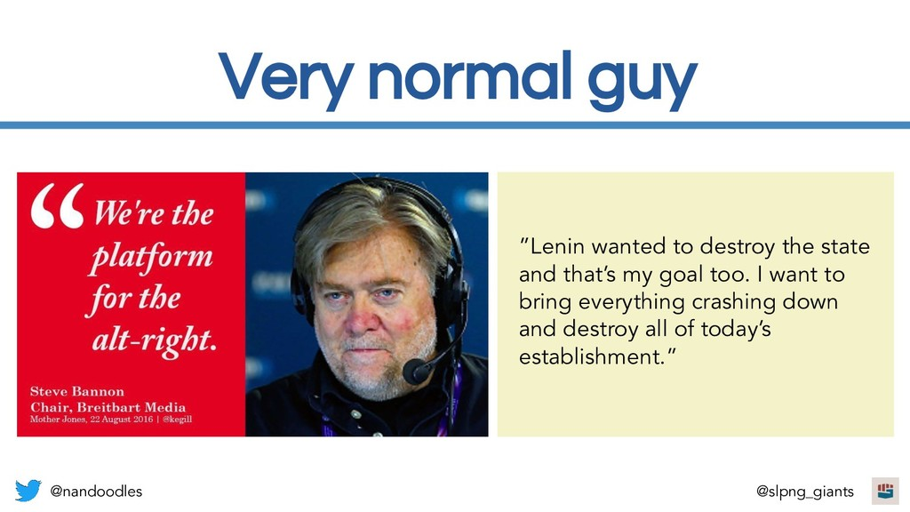 """Very normal guy """"Lenin wanted to destroy the st..."""