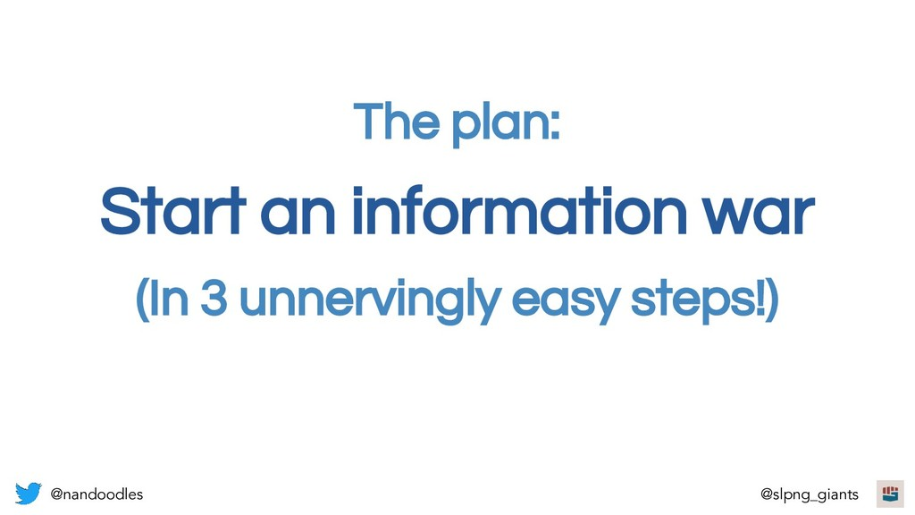 Start an information war (In 3 unnervingly easy...